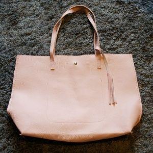Handbags - Nwot Pink leather tote bag shoulder bag